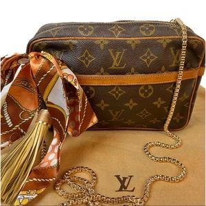 CERTIFIED AUTH. LOUIS VUITTON MONOGRAM CROSS BODY